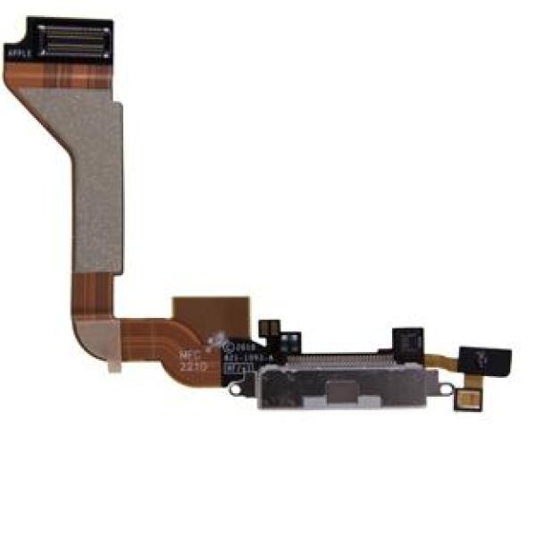 Flex Conector de Carga y Microfono para iPhone 4 - Blanco