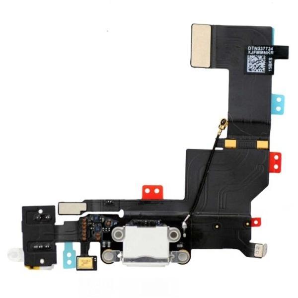 Flex Conector Carga, Microfono y Jack de Audio para iPhone 5s - Blanco