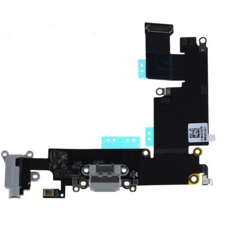 Flex Conector de Carga, Jack de Audio y Microfono para iPhone 6+ Plus - Gris