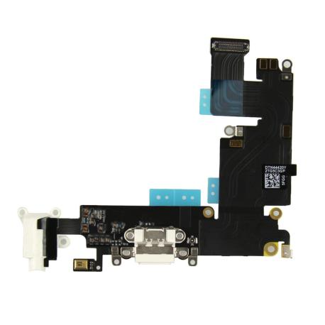 Flex Conector de Carga, Jack de Audio y Microfono para iPhone 6+ Plus - Blanco