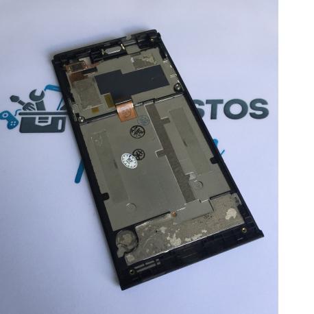 Repuesto Pantalla Tactil + LCD Display con Marco Original para ZTE Blade L2 Negro - Recuperado