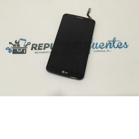 Pantalla lcd + tactil con MARCO Original LG Optimus G2 D802 Negra - Desmontaje