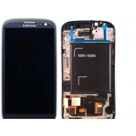 Pantalla Lcd + Tactil Con Marco  Samsung Galaxy S3 Neo i9300i i9301 9308i 9300i i9301I Azul