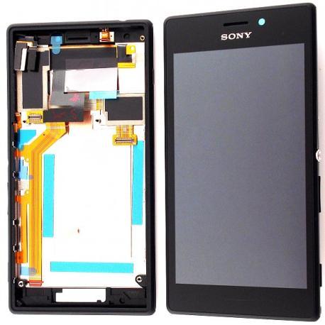 Pantalla Lcd + Tactil con marco Sony Xperia M2 D2303,D2305,D2306 -  Negra