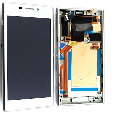 Pantalla Lcd + Tactil con marco Original Sony Xperia M2 D2303,D2305,D2306 - Blanca