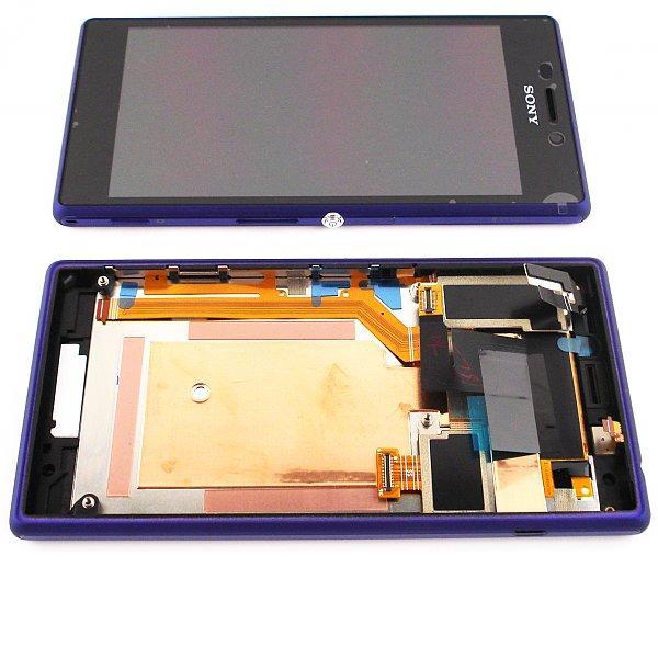 Pantalla Lcd + Tactil con marco Original Sony Xperia M2 D2303,D2305,D2306 - Lila