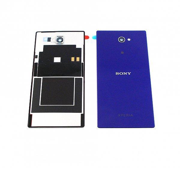 Tapa Trasera de Bateria con NFC Orignal para Sony Xperia M2 D2303 D2305 D2306 - Lila / Desmontaje