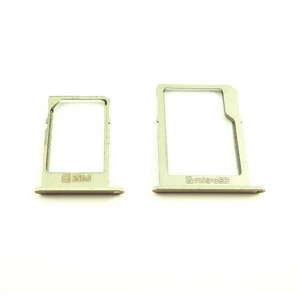 Repuesto de Bandejas Tarjeta SIM y SD Original para Samsung A3 A300, A5 A500 y A7 A700 - Oro