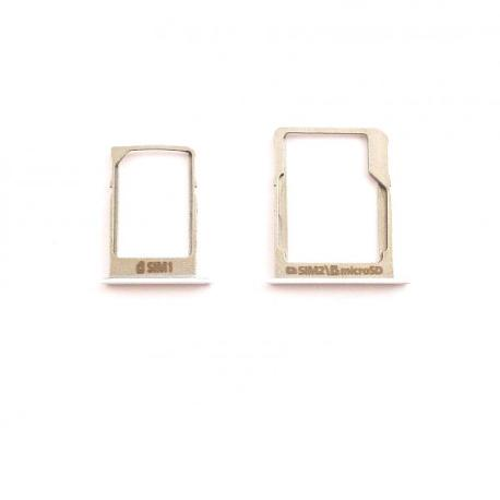Repuesto de Bandejas Tarjeta SIM y SD Original para Samsung A3 A300,  A5 A500 y A7 A700 - Blanco