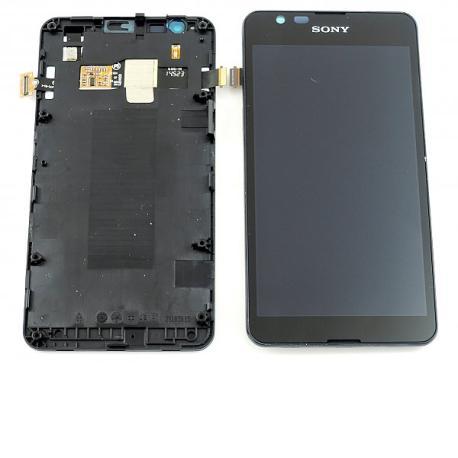 Repuesto de Pantalla LCD + Tactil + Marco Frontal Original para Sony Xperia E4g E2003, E2006, E2053 - Negra