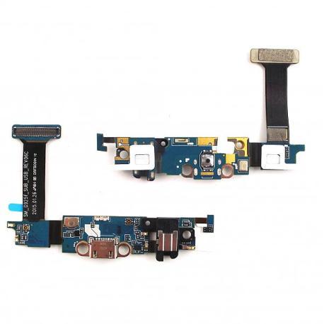Flex de Carga Micro USB, Jack de Audio y MIcrofono para Samsung Galaxy S6 Edge SM-G925F