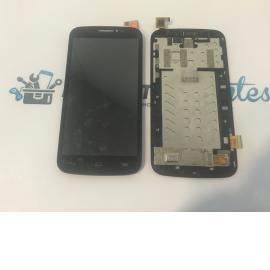 Pantalla Lcd + Tactil Con Marco Original Alcatel Touch Pop C7 OT 7040 7041x Negra - Recuperada