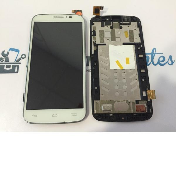 Pantalla Lcd + Tactil Con Marco Original Alcatel Touch Pop C7 OT 7040 7041x Blanca - Recuperada