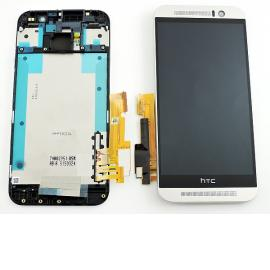 Pantalla Tactil + LCD Display con Marco Original para HTC One M9 - Plata