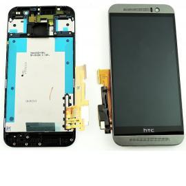 Pantalla Tactil + LCD Display con Marco para HTC One M9 - Negro