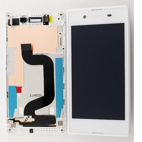 Pantalla Lcd + Tactil con Marco Sony Xperia E3 D2202 D2203 D2206 D2212 - Blanca