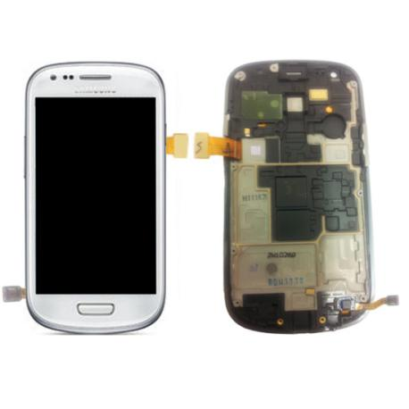 Pantalla LCD + Tactil con Marco Compatible Samsung Galaxy S3 Mini i8190 - Blanca