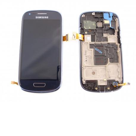 Pantalla LCD + Tactil con Marco Original Samsung Galaxy S3 Mini i8190 Azul