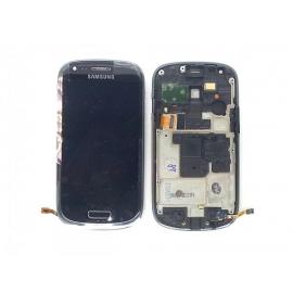 Pantalla LCD + Tactil con Marco Compatible Samsung Galaxy S3 Mini i8190 Gris
