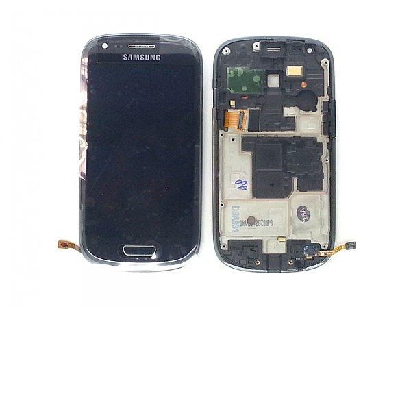 Pantalla LCD + Tactil con Marco Original Samsung Galaxy S3 Mini i8190 Gris