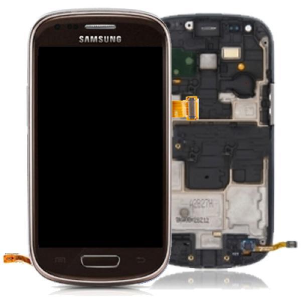 Pantalla LCD + Tactil con Marco Original Samsung Galaxy S3 Mini i8190 Marron