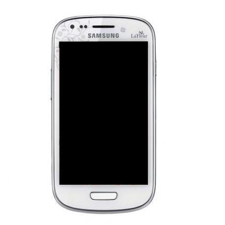 Pantalla LCD + Tactil con Marco Original Samsung Galaxy S3 Mini i8190 - Blanca Le Fleur