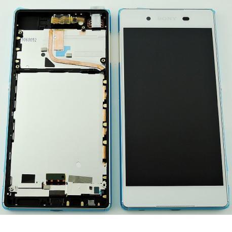Repuesto Pantalla LCD + Tactil con Marco para Sony Xperia Z3 Plus, Xperia Z4, Sony E6553 - Blanco