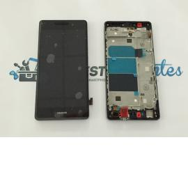 Repuesto Pantalla LCD + Tactil con Marco para Huawei Ascend P8 Lite - Negra