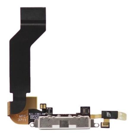 Flex Conector de Carga y Microfono para iPhone 4s - Blanco