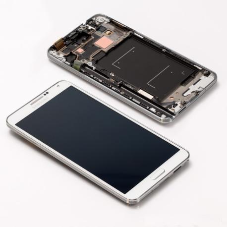 Pantalla LCD Display + Tactil con Marco Original para Samsung Note 3 N9005 - Blanco LIQUIDACION
