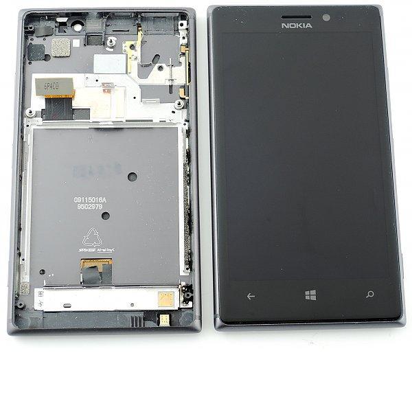 Pantalla LCD Display + Tactil con Marco para Nokia Lumia 925 Negra - Recuperada