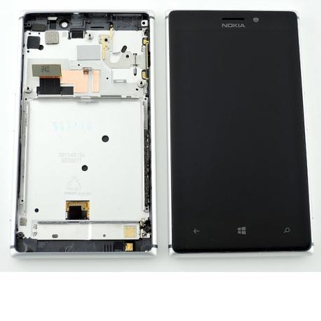 Pantalla LCD Display + Tactil con Marco Original para Nokia Lumia 925 - Plata