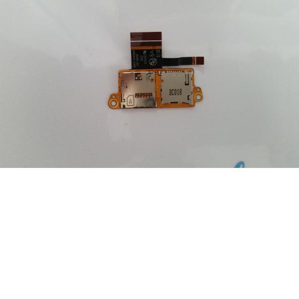 Modulo de Tarjeta Micro SD Y Tarjeta SIM para Tablet Hp Slate10 HD 3603EP - Recuperada