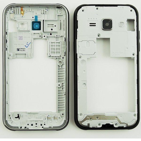 Repuesto Carcasa Intermedia con Lente de Camara Samsung Galaxy J100 J1 Negro