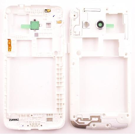 Carcasa Intermedia con Lente de Camara Original Samsung Galaxy Core 4G G386F Blanca