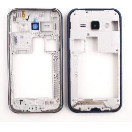 Carcasa Intermedia con Lente de Camara Original para Samsung Galaxy J100 J1 Azul